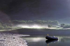 сутрин, мъгла, езеро, живописна