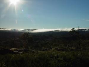 montagna, Helena, avvolto, nebbia