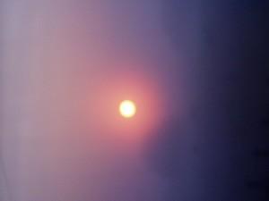 Güneş, sis, gökyüzü, manzara, hava durumu