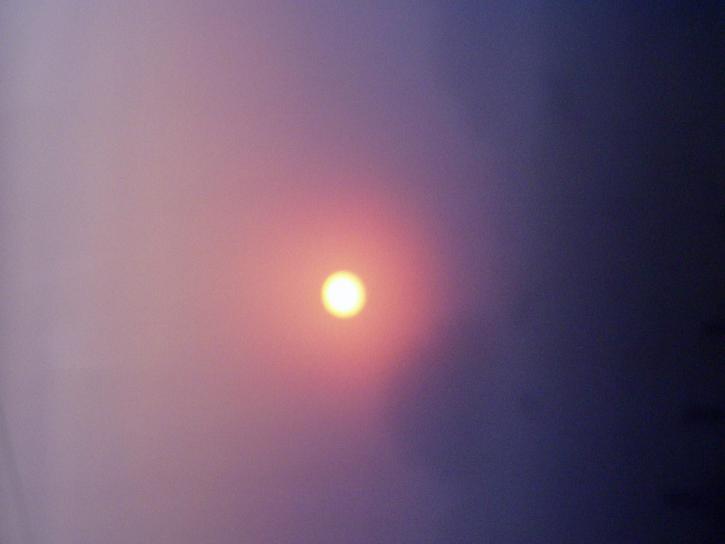 태양, 안개, 하늘, 풍경, 날씨