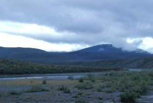 화이트, 구름, 안개, 강