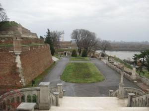 grand, parc, Kalemegdan, Danube, rivière, Serbie