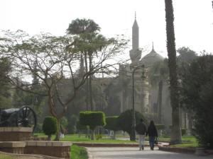 pares, el caminar, El Cairo, jardín, Egipto