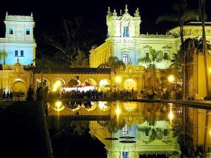 la nuit, les étangs, l'eau, parc