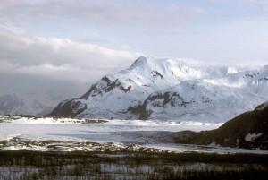 allen, glacier, alpine, glacier, chugach, mountains