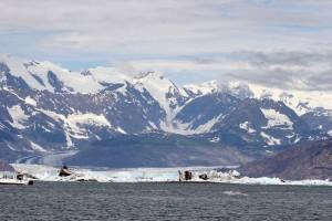 grande, glaciar, escénico