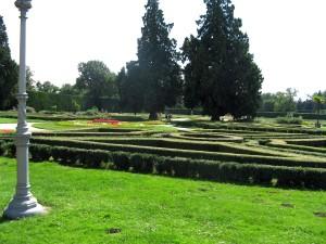 castillo, laberinto, jardín, parque