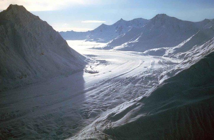 glacier, aérien, photographie