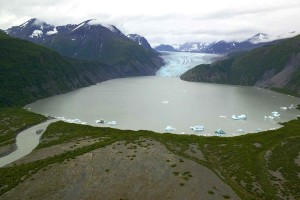 glacier, glacial, lake