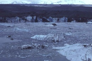 glacier, ice, rocks, ground