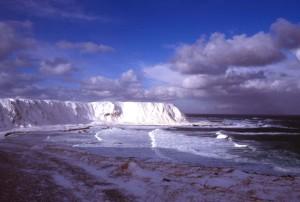 glaciar, nieve, bancos, frío, océano