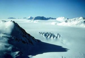 Harding, Lapangan, skilak es, gletser