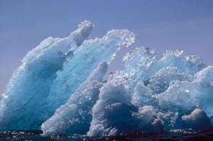 glace, berg, flottante, glace, scenics