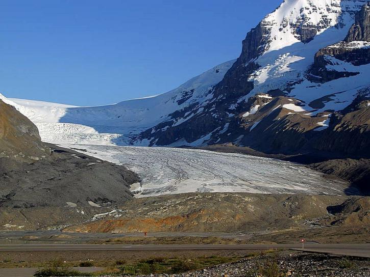 icefields, parkway, glaciers, snow, canada