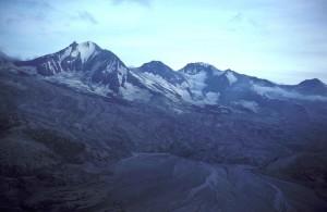 receding, mountain, glacires