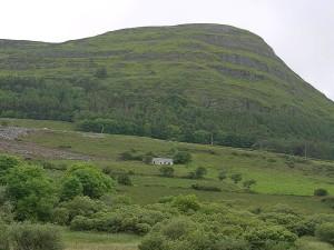 green, hill, fields