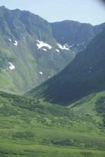 vert, collines, montagnes