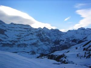 snow, hills