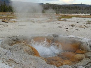 geysers, steam, boiling, yellowstone