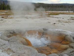 geysers, steam, boiling, yellowstone