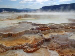 caldo, primavera, Yellowstone