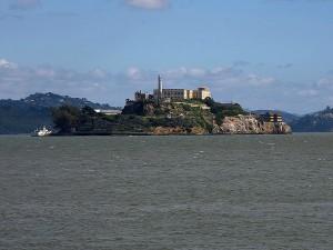 alcatraz, île, San Francisco, pêcheur, quai