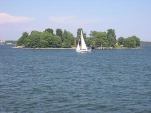 island, yacht