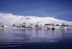 landschaftlich, wasser, auf dem Dorf, insel, Atka, Aleuten, Inseln