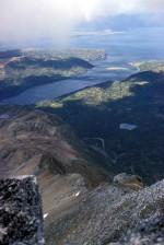 mountain, lagoon, landcape