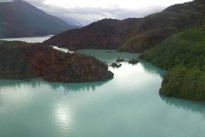 aérien, photographie, national, réserve, lacs