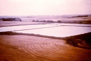 aerial, Georgian, oxidation, pond