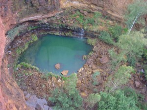 circular, pool, dales, camping, area, Karajini
