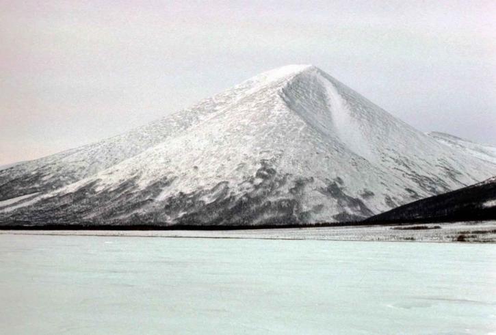 frozen, lake, mountain