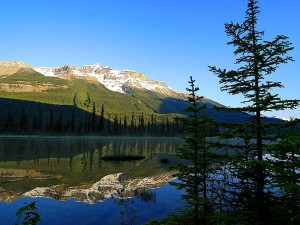 jasper, lakes, reflections, national park