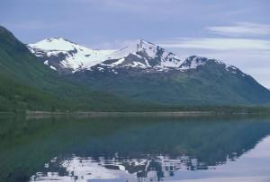 karluk, lake, mountains