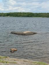 innsjøen, bad, sted