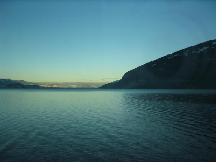 lake, dusk, landscape, nature, dark blue