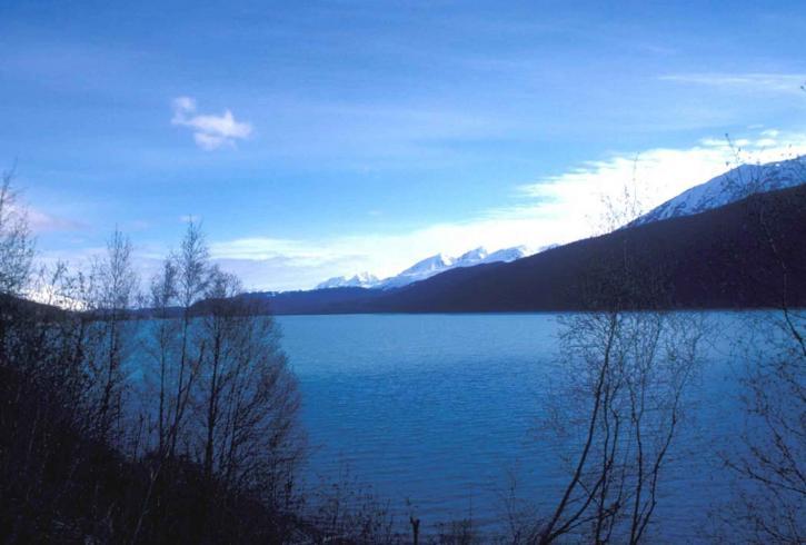 lake, dawn