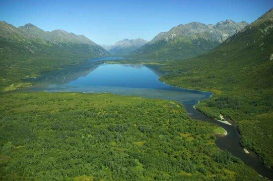 lake, glacial, valley