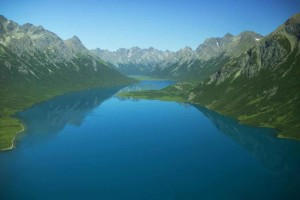 lake, glacial, valley, scenics, landscape