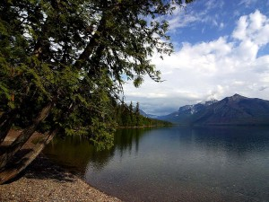 lake, McDonald, largest, lake, glacier, national park