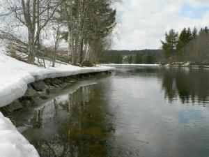 lake, winter time, snow