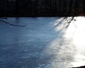 lake, ice
