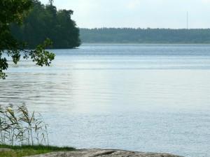 езерото, вода, вятър