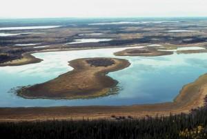 lakes, wetland, flats