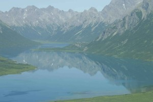 miroir, lacs, montagnes