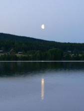 clair de lune, lac