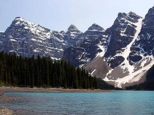 moraine, lac, lac, Louise, Canada