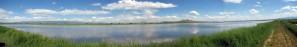 panoramic, Tule, lake