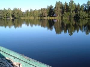 rowing, boat, landscape, lake